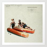 Summer In The City   Col… Art Print