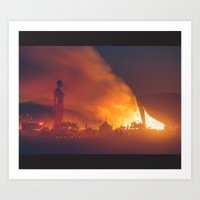 She Burns Art Print