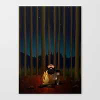 Where The Woods Finds Us Canvas Print