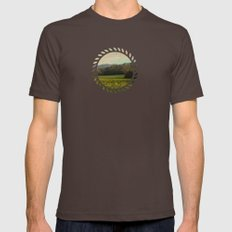 Once Upon A Time A Field… Mens Fitted Tee Brown SMALL