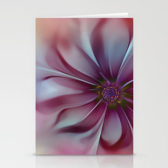Soft Fractal Flower 2 Stationery Card