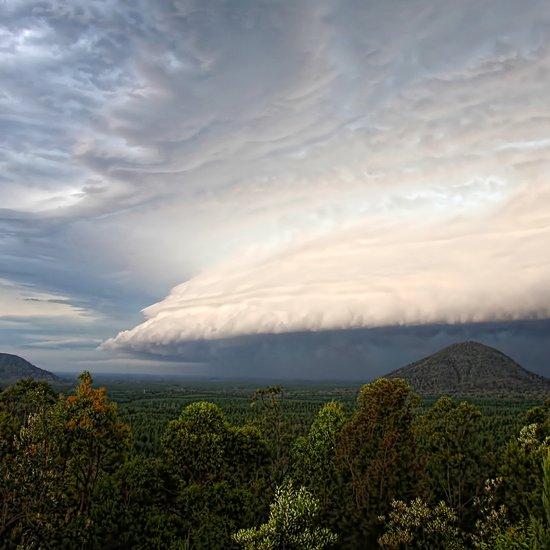 Storm clouds over Australian landscape Art Print