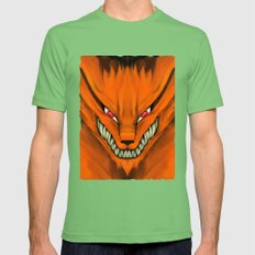 Kyubi Nine Tails Mens Fitted Tee Grass SMALL