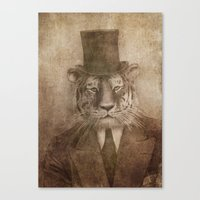 Sir Tiger Canvas Print