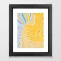 Yellow Magic Framed Art Print