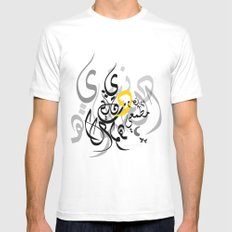Arabic love SMALL White Mens Fitted Tee