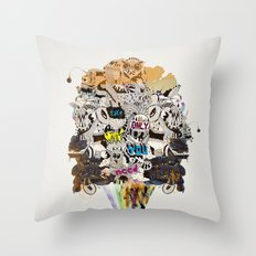 Drawing Collage #03 Throw Pillow