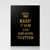 keep calm Stationery Cards featuring Keep calm by UtArt