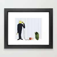 Andy's Calling His Best … Framed Art Print
