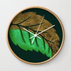 Drying Leaf Wall Clock
