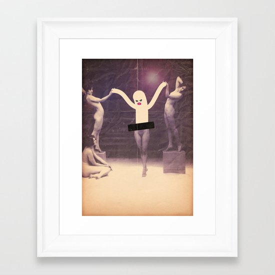 danz trio Framed Art Print