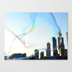 Chicago in a Bubble Canvas Print