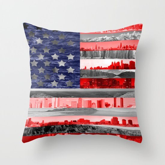 My America Throw Pillow