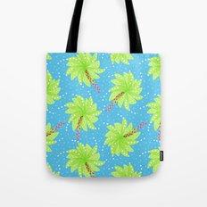 Pattern of Palm Tree-like Flowers Tote Bag