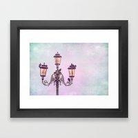 MAGICAL VENICE | Pink La… Framed Art Print