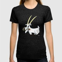 Trashmouth Goat, The Fro… Womens Fitted Tee Tri-Black SMALL