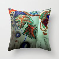 my first free standing fruit 2 Throw Pillow