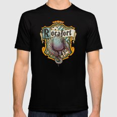 HP Rocafort House Crest Mens Fitted Tee Black SMALL