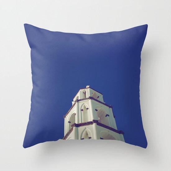 Santorini Churches III Throw Pillow