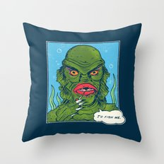 The Sultry Lagoon Throw Pillow