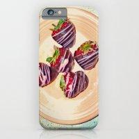 Retro-Sweet Sin ~ Chocolate-Covered Strawberries iPhone 6 Slim Case