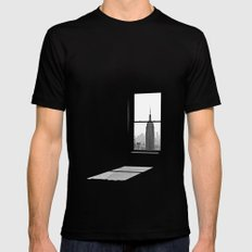 Empire State SMALL Black Mens Fitted Tee