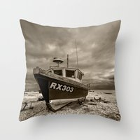 Dark Dungeness Throw Pillow