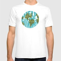 Help The Environment Mens Fitted Tee White SMALL