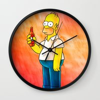 Homer & Duff Wall Clock