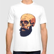 Mr. Skull Mens Fitted Tee White SMALL