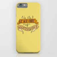 iPhone & iPod Case featuring Leslie Knope, Yellow by Illustrated by Jenny