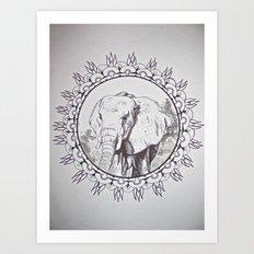 India Elephant Art Print