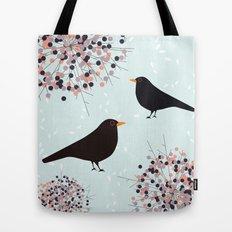 Hawthorn & Blackbird Tote Bag