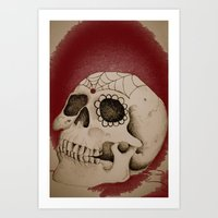 Outta My Skull Art Print
