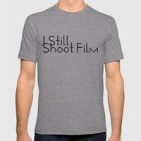 I Still Shoot Film! Mens Fitted Tee Athletic Grey SMALL
