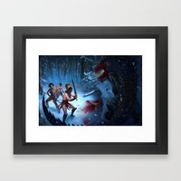 Den of the Ogrelion Framed Art Print