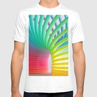 Rainbow Spring 5 Mens Fitted Tee White SMALL