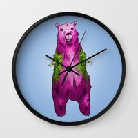 Armless Bear In Nature Wall Clock