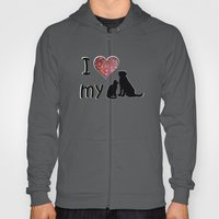 I Heart My Dog & Cat Hoody