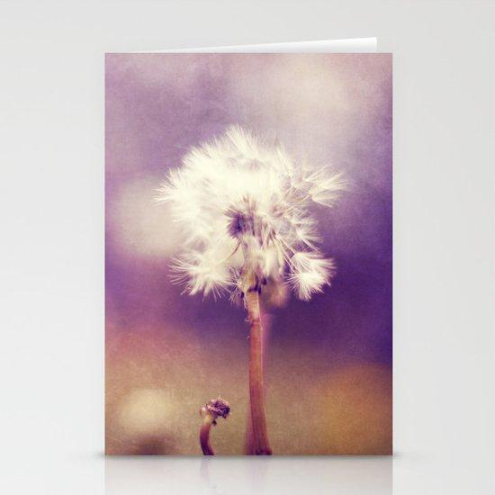 purple fields Stationery Card