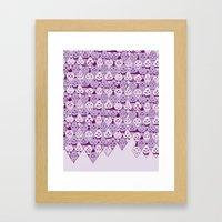 Diamond Faces Framed Art Print