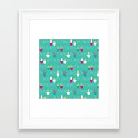 Mini Cactus Love Framed Art Print