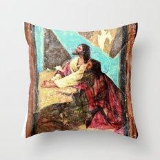 double jesus Throw Pillow