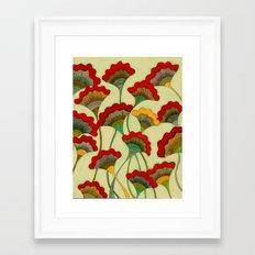 Poppies (warm) Framed Art Print