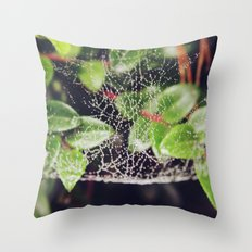 The Spider's Web Throw Pillow