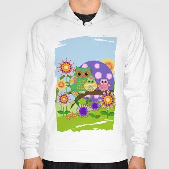 Owls, Flowers Fantasy design Hoody