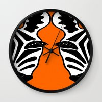 Two Face Zebra Wall Clock