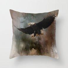 Winter Eagle 1 Throw Pillow