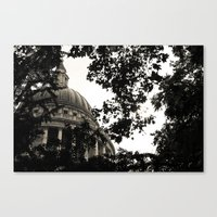 St Paul's Cathedral B&W … Canvas Print