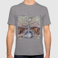 Winter In The Garden Of … Mens Fitted Tee Tri-Grey SMALL